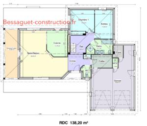 Plan de maison a étage, rez-de-chaussée