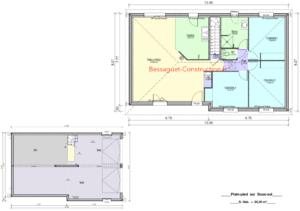 Plan maison sur sous-sol