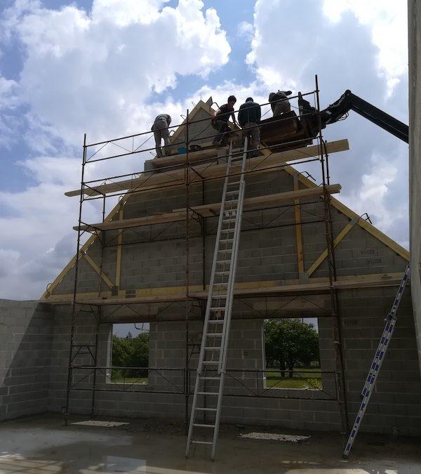 Construction d'un pavillon avec combles aménagés