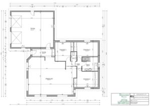 Plan d'une maison de plain pied à Limoges